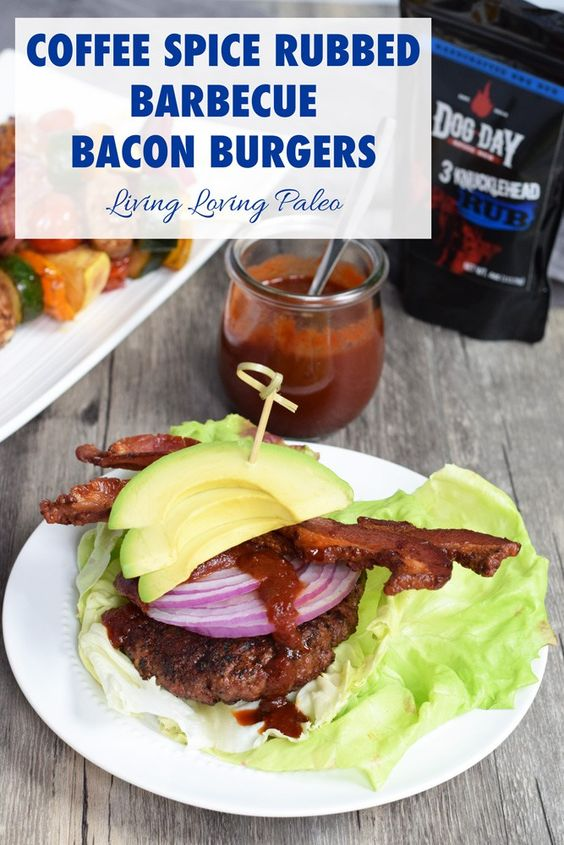 Coffee Spice Rubbed Barbecue Bacon Burgers   These burgers are soooo ...