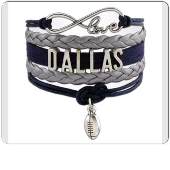 Dallas Football 4 in 1 Cowboys Fan Infinity love charm bracelet