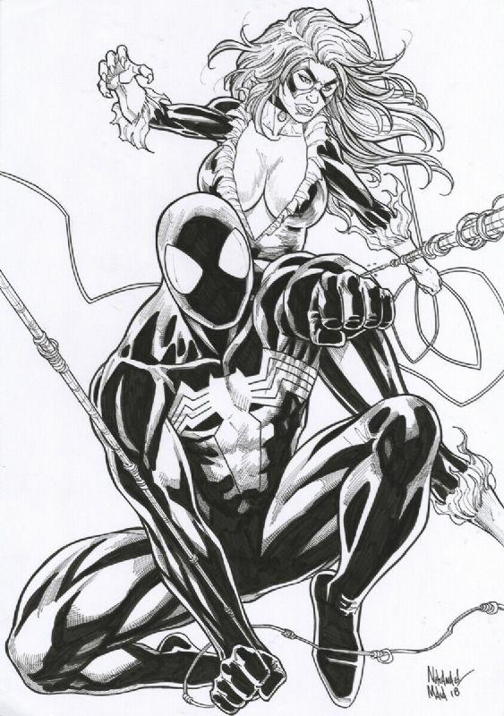 Spider Man Black Cat Comic Art Comic Art Black Cat Comics Spiderman Comic