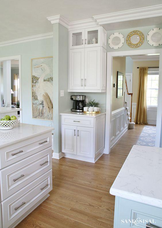 Coastal kitchens sherwin williams comfort gray and comfort gray