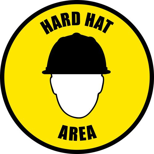 Easily And Effectively Notify Personnel To Wear Hard Hats In Certain Areas Great For Construction Sites Or F Construction Safety Signs Safety Sign Bridge Card