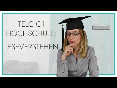 Telc Deutsch C1 Hochschule Leseverstehen Youtube In 2020 Hochschule Lesen Deutsch