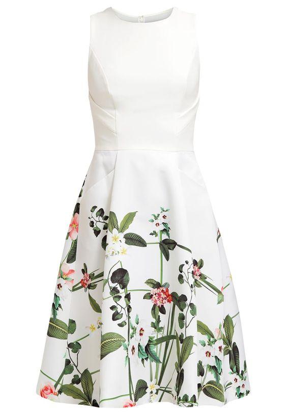 Dames Ted Baker KAROLIE - Korte jurk - cream Gebroken wit: € 289,95 Bij Zalando (op 8-4-16). Gratis bezorging & retournering, snelle levering en veilig betalen!
