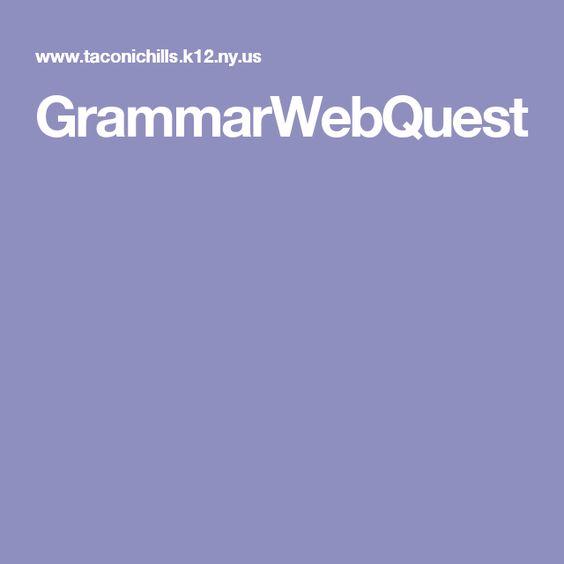 GrammarWebQuest