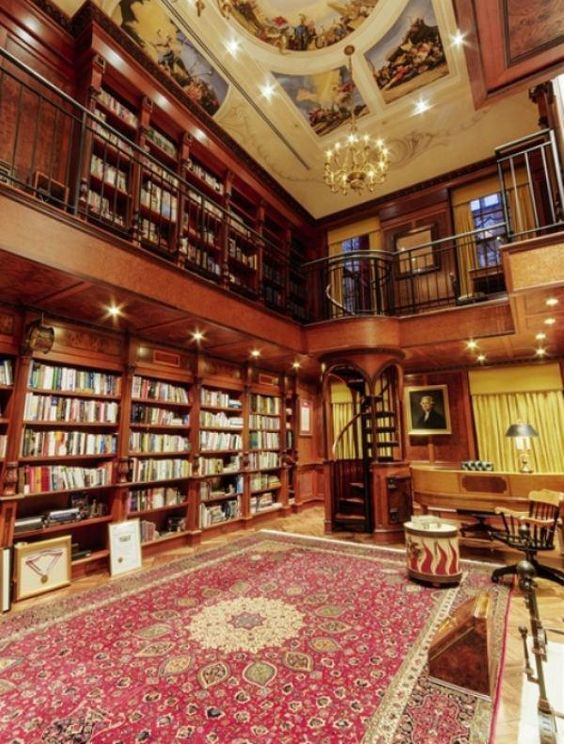 The library in NYC's most expensive house.