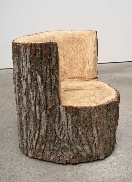 Original, simple wooden DIY furniture from tree trunks new ideas   My desired home