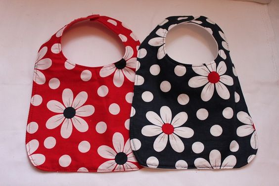 2 Pack Daisy Bibs-FABRIC IS ADORABLE