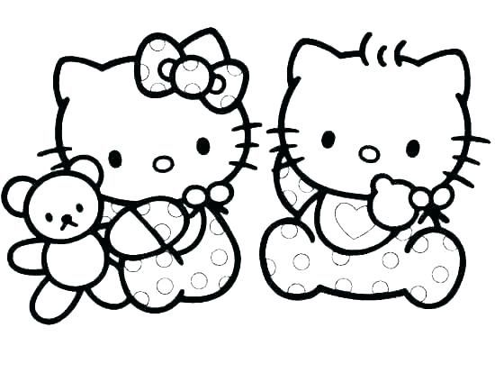 Coloring Pages Kittens Puppy And Kitten Colouring Picture Of A To