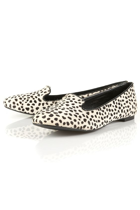 Dalmation print loafers... Yes, please!