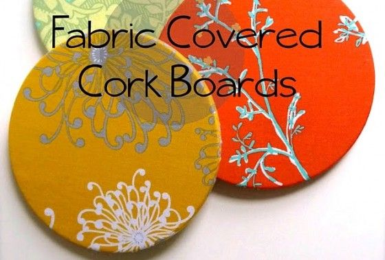 Ever seen those trivets made of cork? Get a set and cover them with pretty fabric. Hang and use as memo boards! I think I will be trying this DIY out; I always see cork trivets on sale whenever I go to the mall.