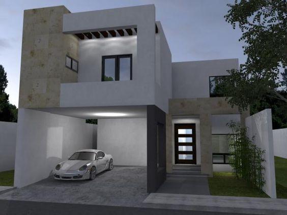 Fachadas de casas con cochera buscar con google casa for Fachadas de garajes