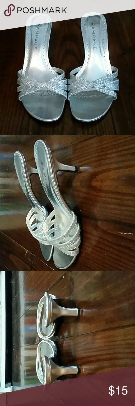 Rampage Silver Heels