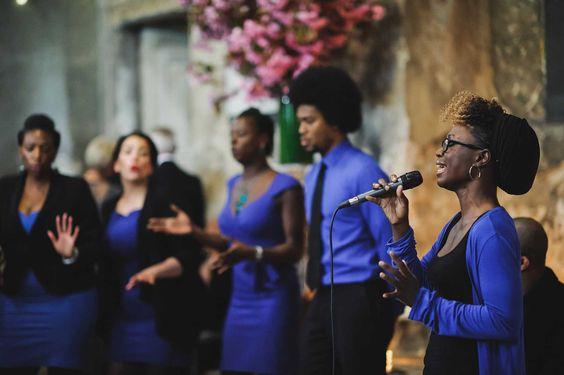 Gospel choir at a wedding at Asylum in Peckham, London