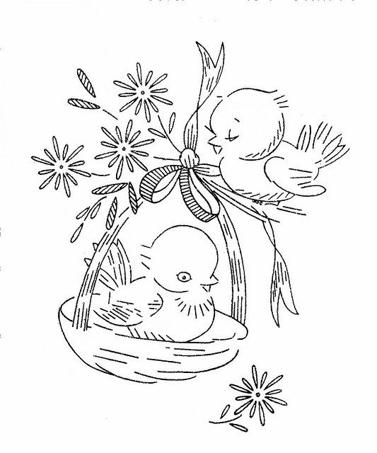 vintage embroidery patterns: