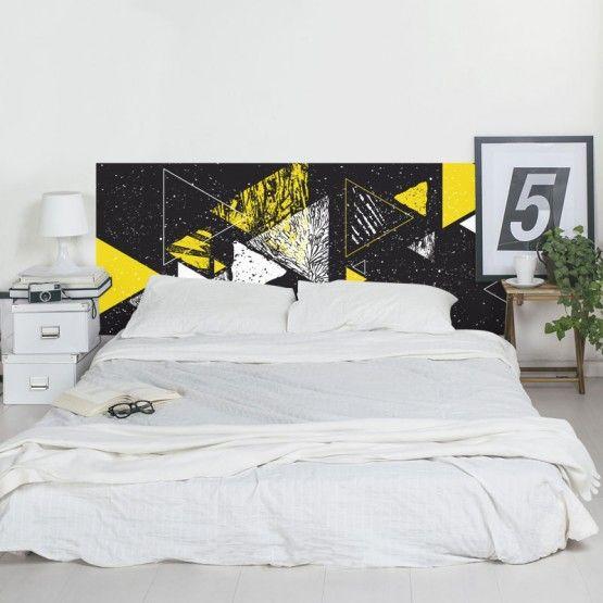 Tete De Lit Decoration Triangulaire En 2020 Stickers Tete De Lit Lit Art Deco Et Decoration Graphique