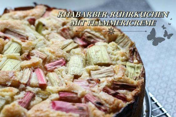 SASIBELLA: Rhabarber-Rührkuchen mit Flammericreme