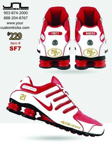 Custom San Francisco 49ers Frank Gore Nike Shox #21 �C JNL Apparel ...