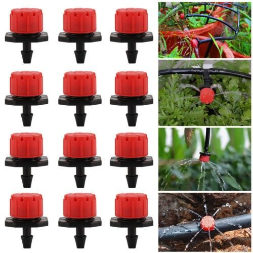 50pcs Adjustable Irrigation Water Tube Drippers Sprinklers Drip Sys Emitter Gard