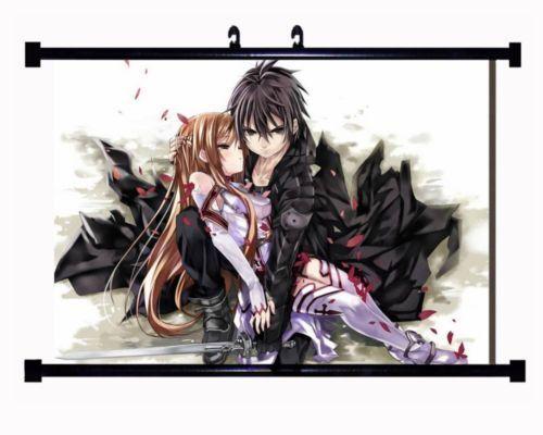 Decor Anime Poster Wall Scroll Sword Art Online SAO 1337074 Kirito Asuna