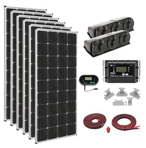 Zamp Solar Kit1014 Mega 1020 Watt Rv Solar Panel Kit Solar Kit Best Solar Panels Solar Panels