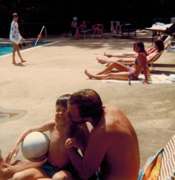 Photo from Nancy - 1982 - Elks Club Pool - Rudy and Daniel