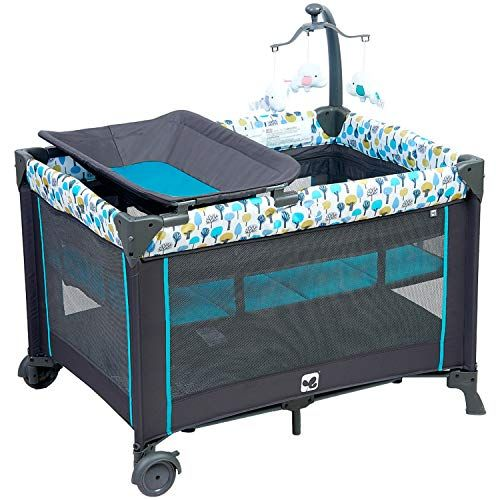 Portable Playard Sturdy Play Yard With Comfortable Mattress And