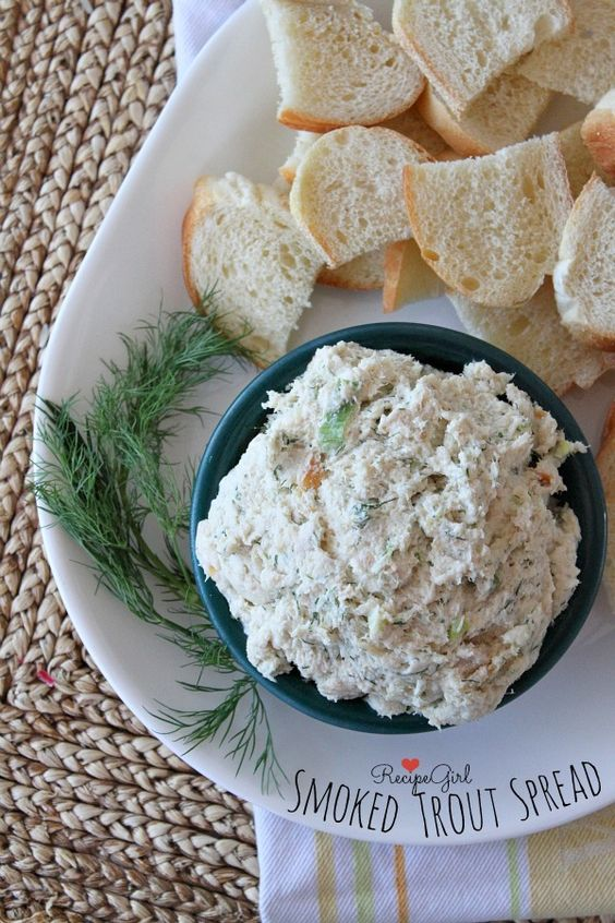 Smoked trout spread appetizer recipes girls and fish for Fish dip recipe