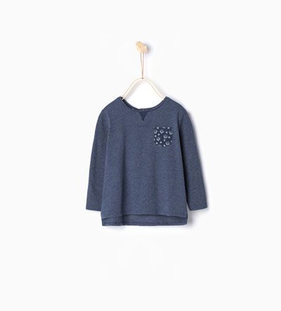 Imagem 1 de T-shirt com bolso da Zara