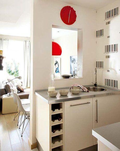 Una cocina singular y pequeña