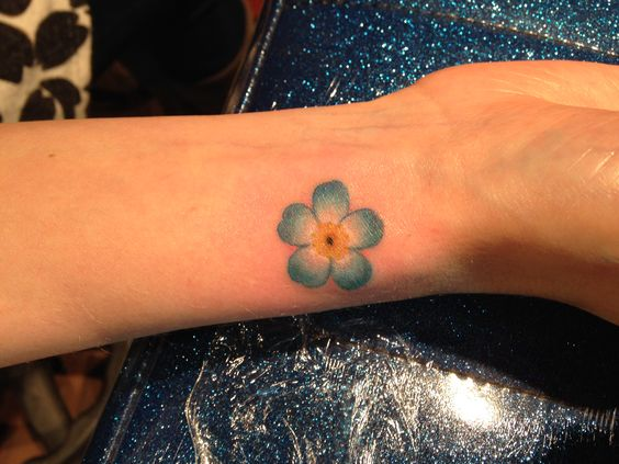 Maybe one of my next tattoos - a forget-me-not flower - in honor of someone very…