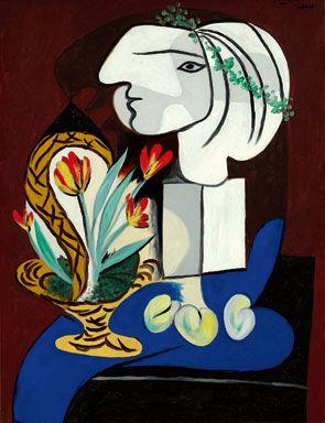 Pablo Picasso, Nature morte aux tulipes. Painted in March 1932. Estimate: $35/50 million. Photo: Sotheby's.