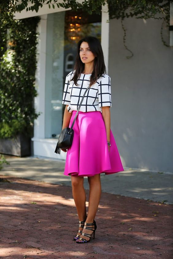 VIVALUXURY - FASHION BLOG BY ANNABELLE FLEUR: FULL ON FUCHSIA Finders Keepers top { also here } | Cameo Bloom skirt { also here } | Gucci Soho leather disco bag | Vita Fede jewelry: mini titan crystal bracelet, original titan bracelet, ultra eclipse crystal midi ring, ultra mini titan crystal ring | Coach Lanice heels | Essie nail polish on hands & feet September 26, 2013