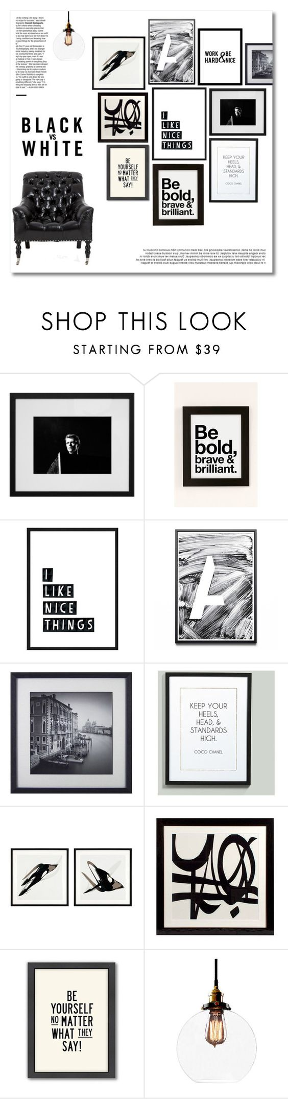 """""""Black and White"""" by miee0105 ❤ liked on Polyvore featuring interior, interiors, interior design, home, home decor, interior decorating, Urban Outfitters, Ballard Designs, Eichholtz and Americanflat"""