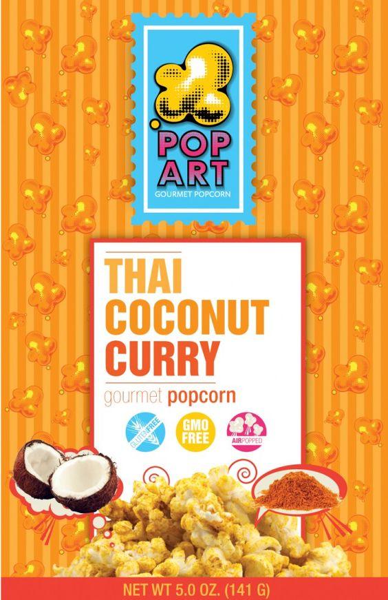 Pop Art Snacks popcorn Thai Coconut Curry