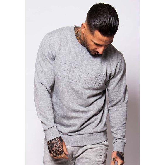 Grey Embossed Sweater