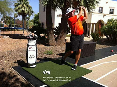 New 5x5 Country Club Elite Real Feel Golf Mats The First
