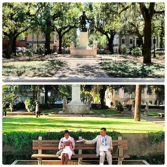 forrest gump s bench was located here at chippewa square