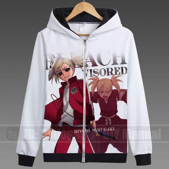 HOT Japanese Anime BLEACH Hoodie Unisex White Leisure Exercise Coat Cosplay #293 #Handmade #hoodies