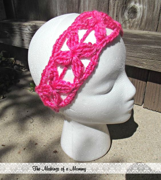 Lacy Flower Headband