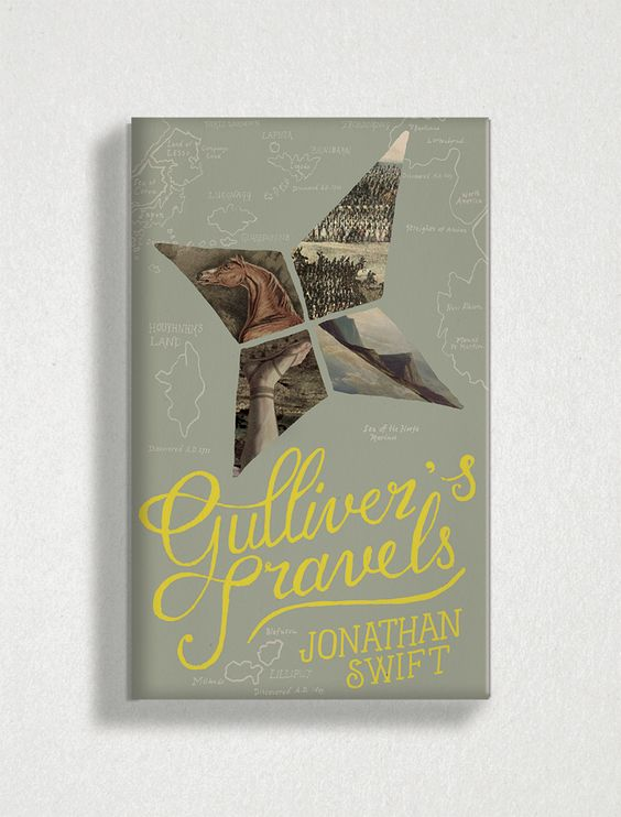 Book cover of Gulliver's Travels by Jonathan Swift designed by Tree Abraham. #bookcover #coverdesign