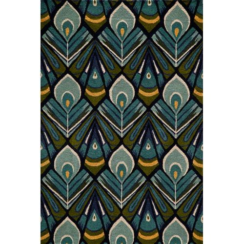 Momeni Habitat 04 Peacock Runner 2 Ft 3 In X 8 Ft Wool Area Rugs Hand Tufted Rugs Rugs