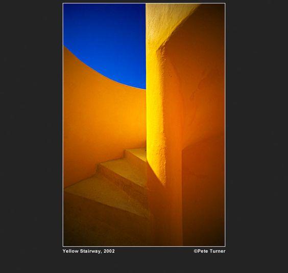 Yellow stairway by Pete Turner (2002) www.peteturner.com