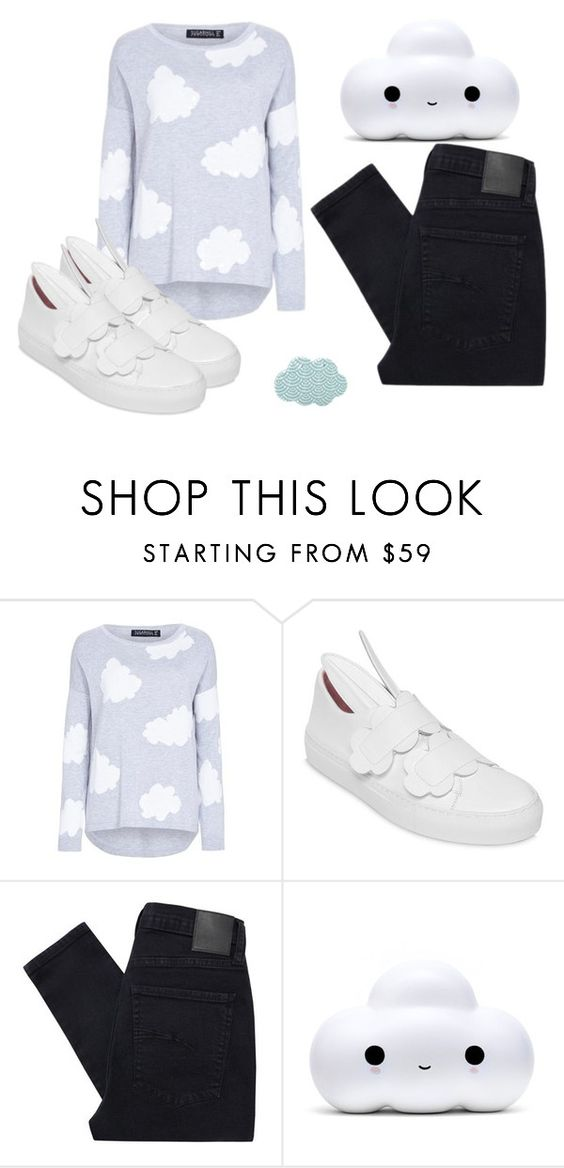"""""""Cloud #3"""" by hideous ❤ liked on Polyvore featuring Minna Parikka, Nobody Denim, contest and Cloud"""