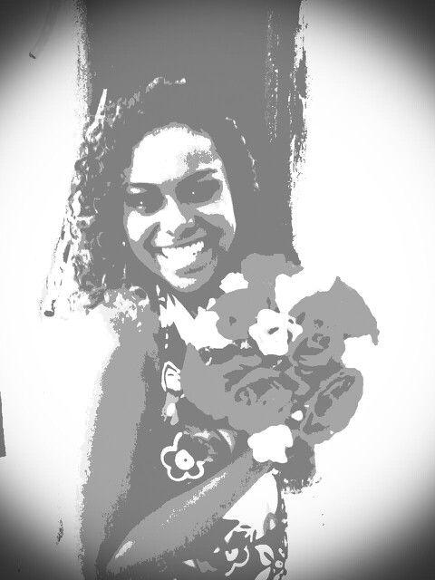 Eu e flores