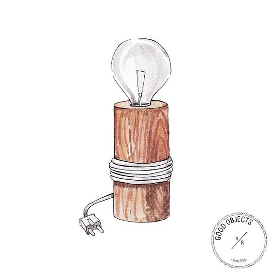 Good objects - The Oak Men Log Lamp @theoakmen #goodobjects #illustration