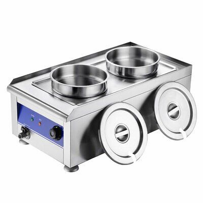 Details About 1200w Commercial 7l Pots Food Warmer With Dual