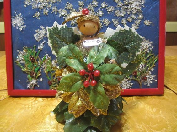 Yule Fairy Goddess, Fairy for Yule, Christmas Corn Doll Fairy Goddess, Yule Goddess, Yule Decor, Christmas Decor, Altar Decor for Yule, Gift