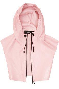 Kane x Donatella = cropped pink leather hoodies