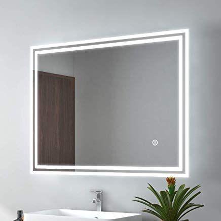 Led Badspiegel 90x70cm Badspiegel Mit Beleuchtung Kaltweiaÿ
