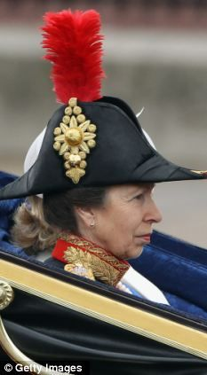Princess Anne wore a Nelsonian cap. This is so Gilbert & Sullivanish, right out of HMS Pinafore: